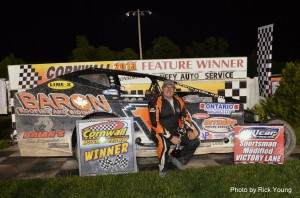 July 1, 2013 - Brad Rouse wins DIRTcar Sportsman Modified Series feature at Cornwall Motor Speedway