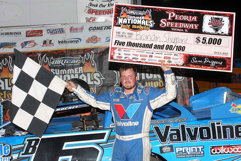 Sheppard Captures First Victory of 2014 DIRTcar Summer Nationals at Peoria Speedway