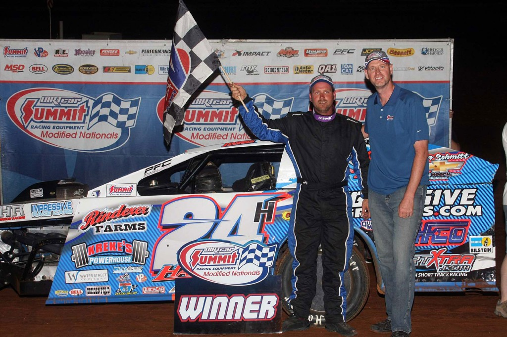 Harrison Captures Second Victory of 2014 DIRTcar Summit Racing Equipment Modified Nationals at Clarksville Speedway