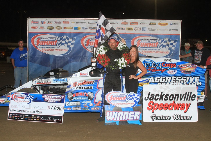 Harrison Goes Back-to-Back with 2014 DIRTcar Summit Racing Equipment Modified Nationals Victory at Jacksonville Speedway