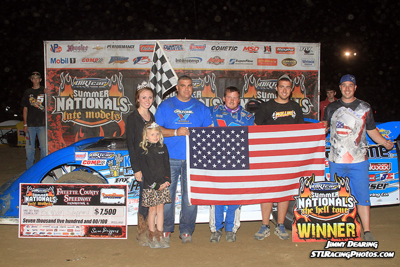Sheppard Escapes Fayette County Speedway with DIRTcar Summer Nationals Victory