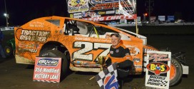Danny Johnson powers to DIRTcar 358-Modified Series victory at Brockville Ontario Speedway