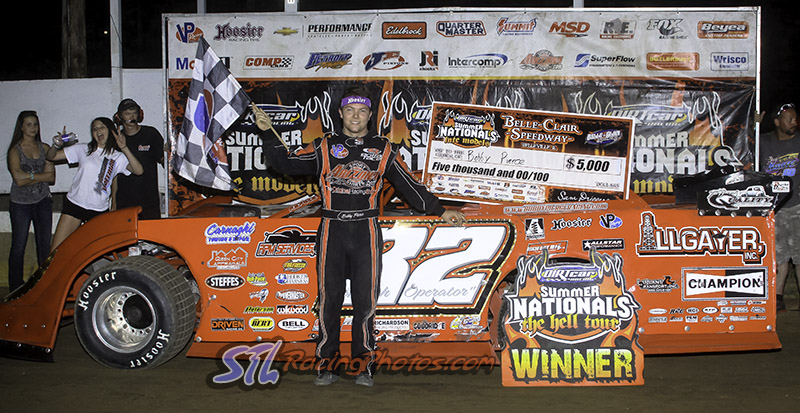 Pierce Powers To DIRTcar Summer Nationals Win At Belle